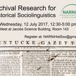 Archival Workshop at the Linguistic Institute